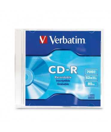 CD Verbatim 700MB, 74 minuts. Amb capsa fina