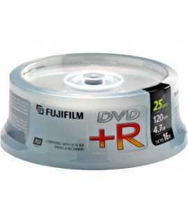 DVD+R Fujifilm. Capacitat: 4,7 GB. 25 unitats
