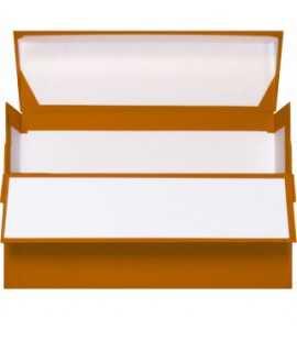 Caja de transferencia color azul. Medida folio, lomo 11 cm.