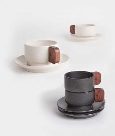 2 tasses de cafè, blanques o negres