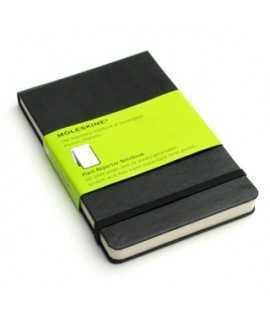 Bloc de notes Moleskine Reporter. Mides: 9x14 cm. Color negre. 192 fulls. Paper blanc