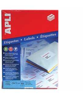 Etiquetas autoadhesivas, DIN A4. Tamaño: 105x37 mm. Color blanco. 1600 unidades.