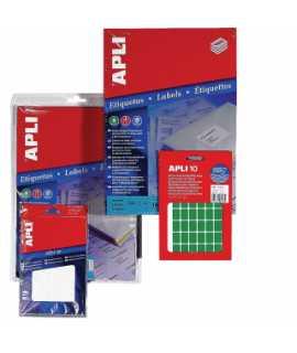 Etiquetes autoadhesives en sobre. Mida: 53x82 mm. Color blanc. 40 unitats.