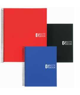 Llibreta Note Book 6, DIN A4. Color negre. 150 fulls. Acabat quadriculat