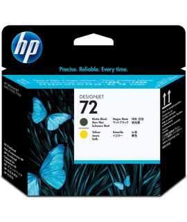 Capçal HP 72 negre mat i groc. C9384A