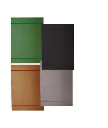 Carpeta con solapas. 33x24 cm. Color gris. 5 unidades
