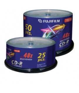 CD-R Fujifilm. Capacidad: 700 MB. 25 unidades