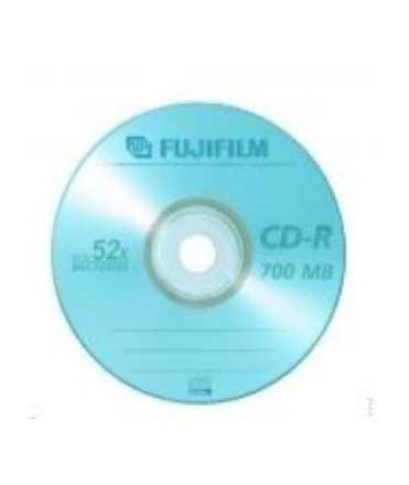 CD-R Fujifilm. Capacitat: 700 MB. 50 unitats