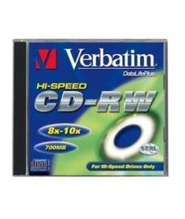 CD-RW Verbatim. Capacitat: 700 MB. Ús regravable