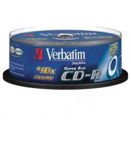 CD Verbatim 700MB, 74 minutos. 25 unidades.