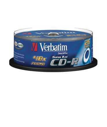 CD Verbatim 700MB, 74 minuts. 25 unitats.