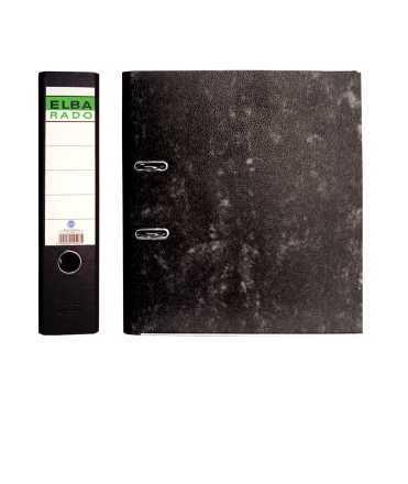 Arxivador ample jaspiat, llom de 7,5 cm. Mida: 32x29x7,5 cm. Color negre