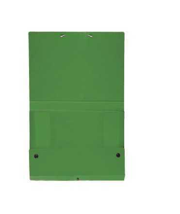 Carpeta de projectes desmuntable, llom 10 cm. Mida: 34x24,5x10 cm. Color verd