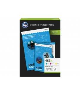 Multipack 3 colores HP 953 XL + Papel. CC21AE