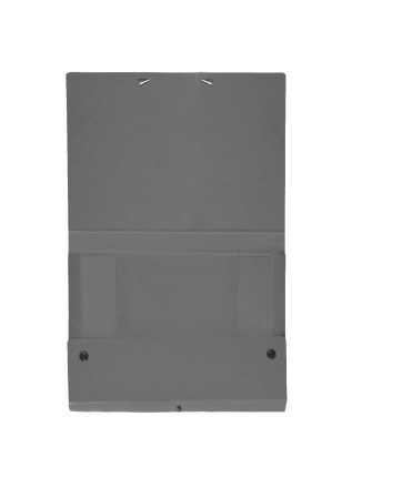 Carpeta de projectes desmuntable, llom 1 cm. Mides: 34x24,5x1 cm. Color gris