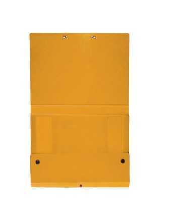 Carpeta de projectes desmontable de color groc. Mida foli, llom 3 cm.