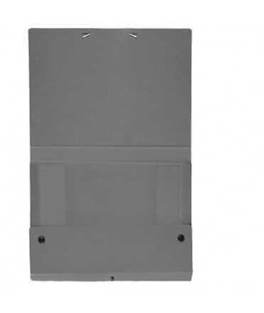 Carpeta de projectes, muntada de color gris. Mida foli, llom 3 cm.