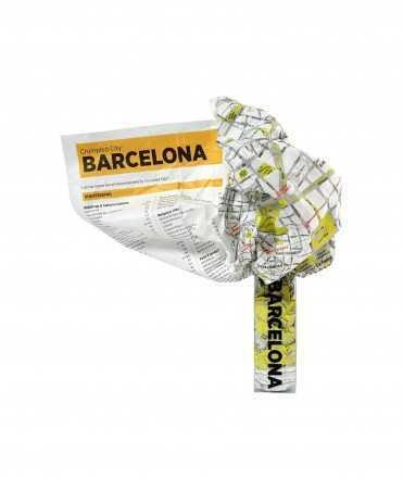 Crumpled City-Map Barcelona
