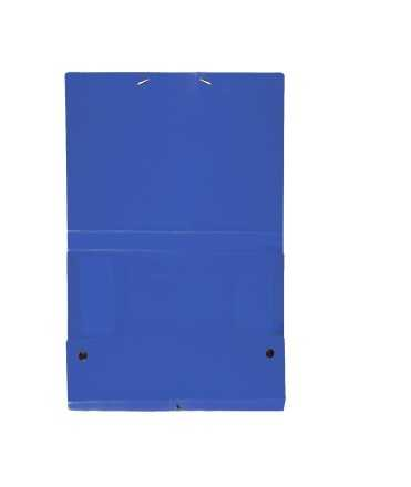Carpeta de projectes desmontable de color blau. Mida foli, llom 5 cm.