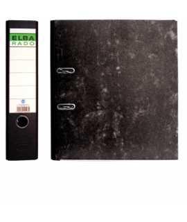 Arxivador ample jaspiat, llom de 7,5 cm. Mida: 35x29x7,5 cm. Color negre