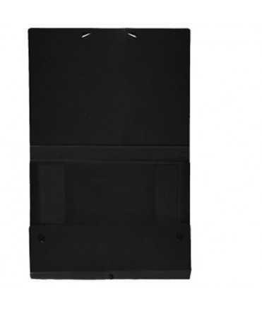 Carpeta de projectes desmontable negre. Mida foli, llom 5 cm.