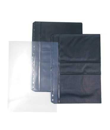 Fundes de PVC per a fotografies i negatius (10x15 cm). Mida: 32x23 cm. 16 forats. 6 unitats.