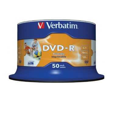 DVD-R Verbatim. Capacitat 4,7 GB. 50 unitats.
