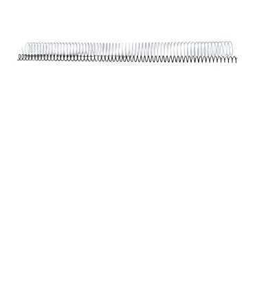 Espirals metàl·liques. Mida: 10 mm. Color blanc. 64 anelles.