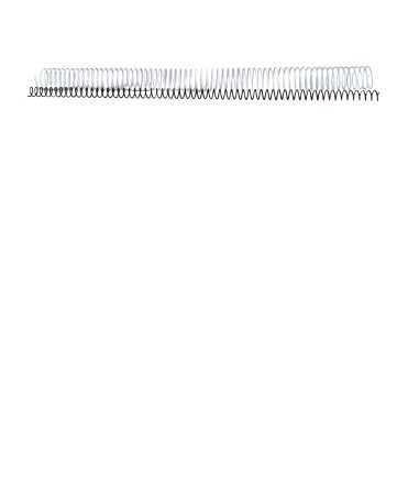 Espirals metàl·liques. Mida: 12 mm. Color blanc. 64 anelles.