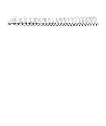 Espirals metàl·liques. Mida: 18 mm. Color negre. 64 anelles.