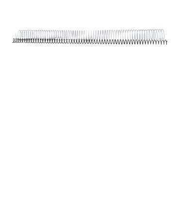 Espirals metàl·liques. Mida: 20 mm. Color blanc. 64 anelles.