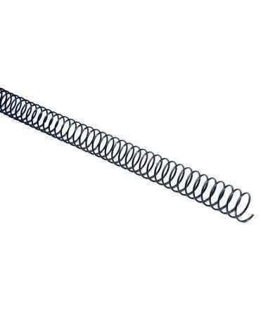 Espirals metàl·liques d'enquadernació. Mida: 20mm. 100 unitats.