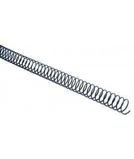 Espirals metàl·liques d'enquadernació. Mida: 24mm. 100 unitats.