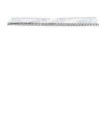 Espirales metálicas. Tamaño: 36 mm. Color blanco. 64 anillas.