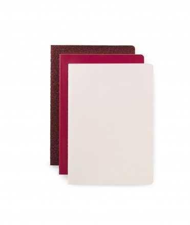 Set de tres llibretes, vermells