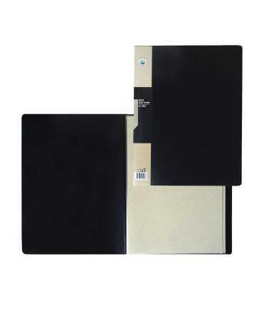 Carpeta amb 20 fundes de color negre, DIN A4