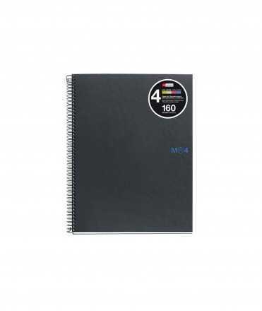 Llibreta Note Book 4, DIN A5. 2 forats. Acabat quadriculat