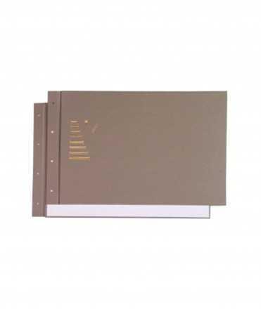 Tapes tipus llibre, DIN A3. Color gris