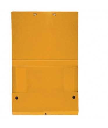 Carpeta de projectes de color groc. Mida A3, llom 1 cm.