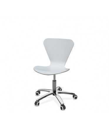 Cadira Danesa Blanca amb rodes