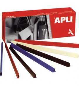 Lomo de plástico de colores, DIN A4. Lomo 15 mm. Color negro