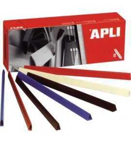 Lomo de plástico de colores, DIN A4. Lomo 5 mm. Color negro