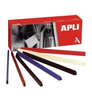Llom de plàstic de colors, DIN A4. Llom 5 mm. Color negre