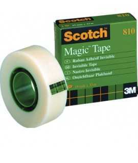 Cinta adhesiva invisible Scotch Magic Tape 810. Mida: 19mm x 33m.