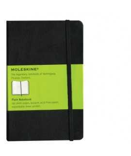 Quadern Moleskine clàssic. Mida: 9x14 cm. Color negre. 192 fulls. Paper blanc.