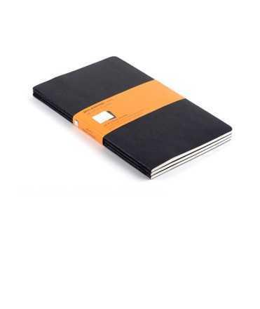 Joc de 3 quaderns Moleskine Classic. Mides: 19x25 cm. Color negre. 120 fulls. Paper kraft quadriculat