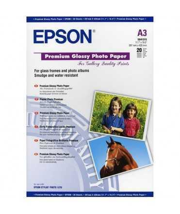 Paper Premium Glossy Photo Epson DIN A3, 255g. 20 fulls
