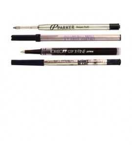 Recambios bolígrafo, roller o pluma color negro