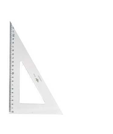 Escaire mil·limetrat. Mida: 20 cm
