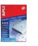Etiquetes autoadhesives, DIN A4. Mida: 105x40 mm. Color blanc. 1400 unitats.